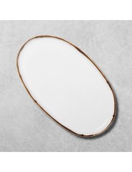 Serve Tray Reactive Glaze Oval   Hearth &Amp; Hand With Magnolia by Hearth & Hand With Magnolia