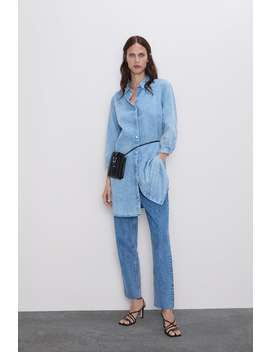 Long Denim Shirt View All Shirts by Zara