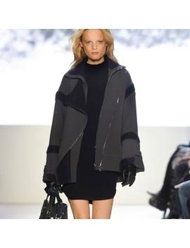 Women's Lacoste Blue Moto Coat JacketNwt by Lacoste