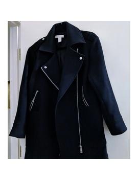 H&M Black Women's Winter Long Coat Biker Size 6 by H&M