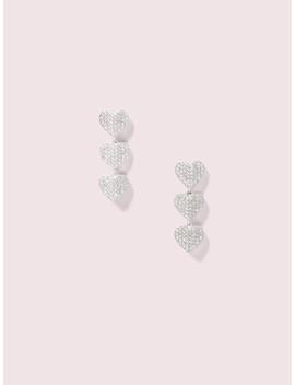 Heart To Heart Pavé Triple Drop Earrings by Kate Spade