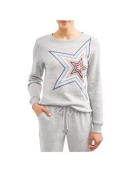 Ev1 From Ellen De Generes Star Fleece Crew Neck Sweatshirt Women's by Ev1 From Ellen De Generes