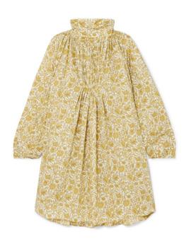 Frou Frou Gathered Floral Print Cotton Poplin Mini Dress by Nackiyé