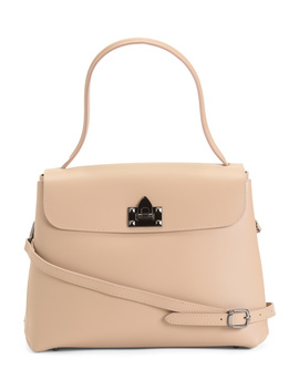 Made In Italy Flap Leather Satchel by Tj Maxx