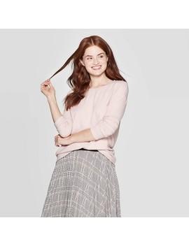 Women's Long Sleeve Crewneck T Shirt   A New Day by Shirt