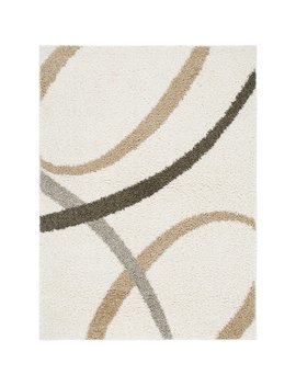 Synergy Contemporary Curves Ivory Indoor Area Rug by Nicole Miller