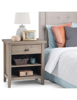 Wyndenhall Stratford Solid Wood 24 Inch Wide Contemporary Bedside Nightstand Table by Wynden Hall