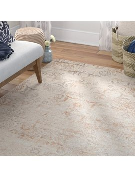 Spence Cotton Cream/Brown Area Rug by Union Rustic