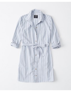 Classic Long Sleeve Shirt Dress by Abercrombie & Fitch