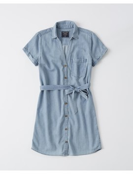 Tie Front Shirt Dress by Abercrombie & Fitch