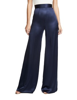 Satin Wide Leg Pants by Sablyn