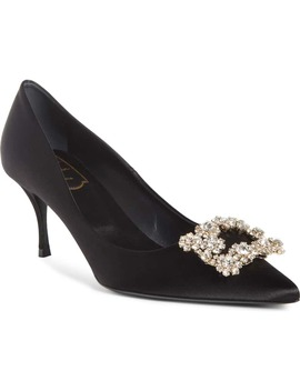 Sin Crystal Buckle Pointy Toe Pump by Roger Vivier
