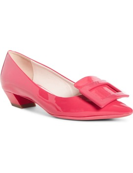 Gommettine Buckle Pointed Toe Pump by Roger Vivier
