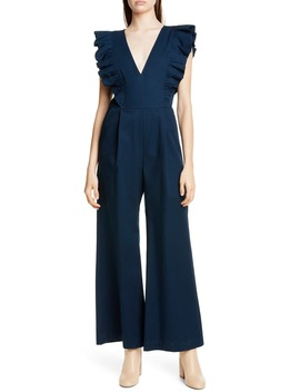 Stevie Ruffle Trim Jumpsuit by Sea