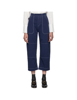 Blue Light Denim Boyfriend Jeans by ChloÉ
