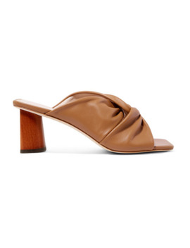 Naomi Knotted Leather Mules by Rejina Pyo