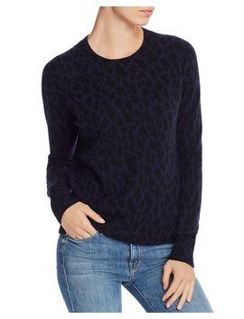 Leopard Pattern Cashmere Sweater   100% Exclusive by Aqua Cashmere