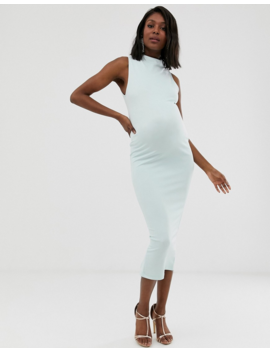 Asos Design Maternity High Neck Bandage Midaxi Dress by Asos Design