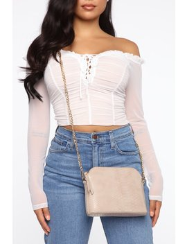 Dile It Up Crossbody Bag   Taupe by Fashion Nova