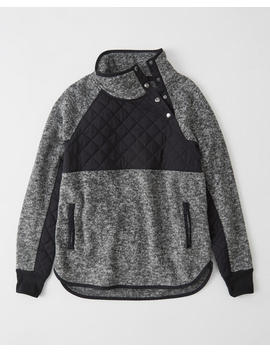 Asymmetrical Snap Up Fleece by Abercrombie & Fitch