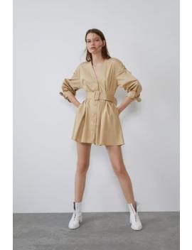 Belted Dress Mini Dresses Woman by Zara