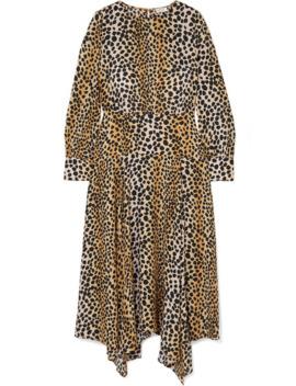 Elsa Leopard Print Crepe De Chine Midi Dress by Rixo