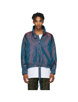 Burgundy & Blue Iridescent Track Jacket by Fear Of God