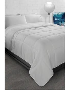 White All Season Super Soft Triple Brushed Microfiber Down Alternative Twin Comforter by Ella Jayne Home
