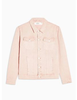 Pink Denim Western Jacket by Topman