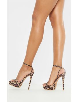 High Platform Leopard Sandal  by Prettylittlething