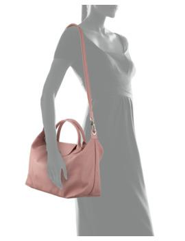 Le Pliage Cuir Medium Handbag With Strap by Longchamp