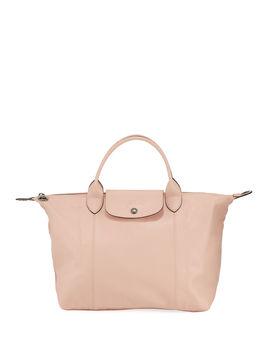 Le Pliage Cuir Medium Shoulder Bag by Longchamp