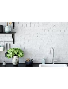 realistic-white-brick-wallpaper-removable-and-self-adhesive-peel-and-stick-white-brick by etsy