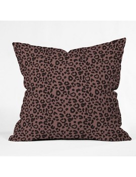 Dash And Ash Leopard Love Throw Pillow Brown   Deny Designs by Deny Designs