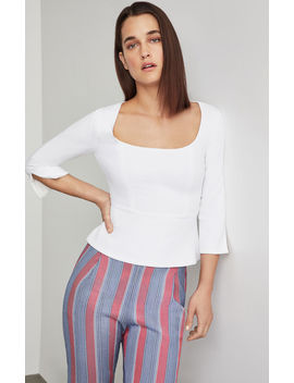 Split Back Peplum Top by Bcbgmaxazria