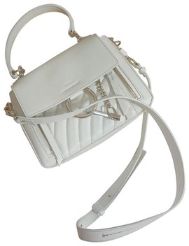 Faye Quilted Day Mini Natural Satchel White Cross Body Bag by Chloé