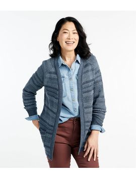 Organic Donegal Sweater, Open Cardigan Plaited by L.L.Bean