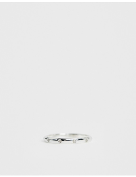 Kingsley Ryan Exclusive Sterling Silver Crystal Band Ring by Kingsley Ryan