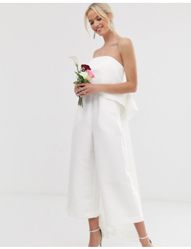 Asos Edition Bandeau Wedding Jumpsuit With Bow Detail by Asos Edition