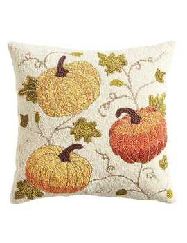 Beaded Pumpkins Pillow by Pier1 Imports