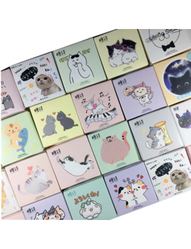 Kawaii Cat Collection Paper Small Diary Mini Japanese Cute Box Stickers Set Scrapbooking Cute Flakes Journal Stationery by Ali Express.Com
