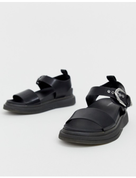 Pull&Amp;Bear Western Buckle Detail Chunky Sandals In Black by Pull&Bear