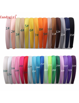 33pcs 1.5cm/2cm Satin Headbands Colored Adult Kids Ribbon Hairband Women Covered Hair Band Accessories Multicolor Girl Headwear by Ali Express.Com