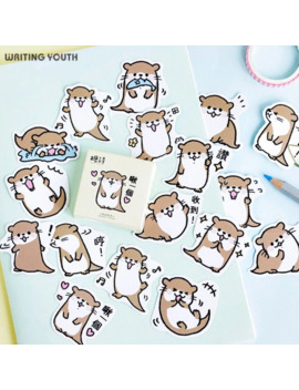 Cute Small Otter Bullet Journal Stickers Scrapbooking Child Diary Diy Kawaii Stickers Supplies Stationary Gift Supplies by Ali Express.Com