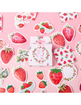Strawberry Cheese Bullet Journal Decorative Stationery Stickers Scrapbooking Diy Diary Album Stick Lable by Ali Express.Com