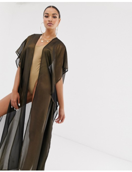 Candypants Kimono In Shimmer Bronze by Asos Brand