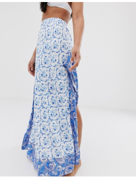 asos-design-ruffle-hem-beach-maxi-skirt-in-mixed-paisley-print by asos-design