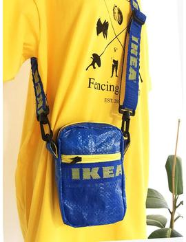 Ikea Bag, Ikea Bag Reused, Ikea Bag Rework, Funny Pack Ikea Rwrk, Ikea Crossbody Bag, Ikea Crossbag by Etsy