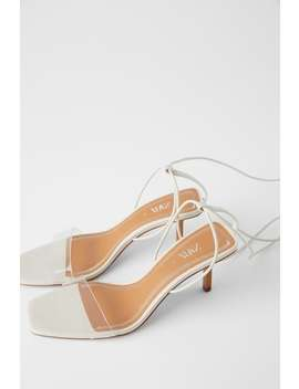 Heeled Sandals With Wood And Vinyl  Womanshoes &Amp;Amp; Bags New In by Zara