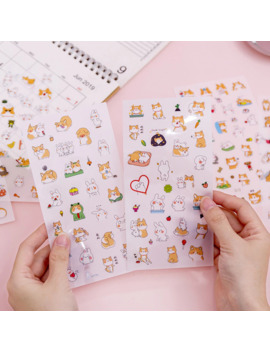 6 Pcs/Pack Shiba Rabbit Funny Bullet Journal Decorative Stationery Stickers Scrapbooking Diy Diary Album Stick by Ali Express.Com